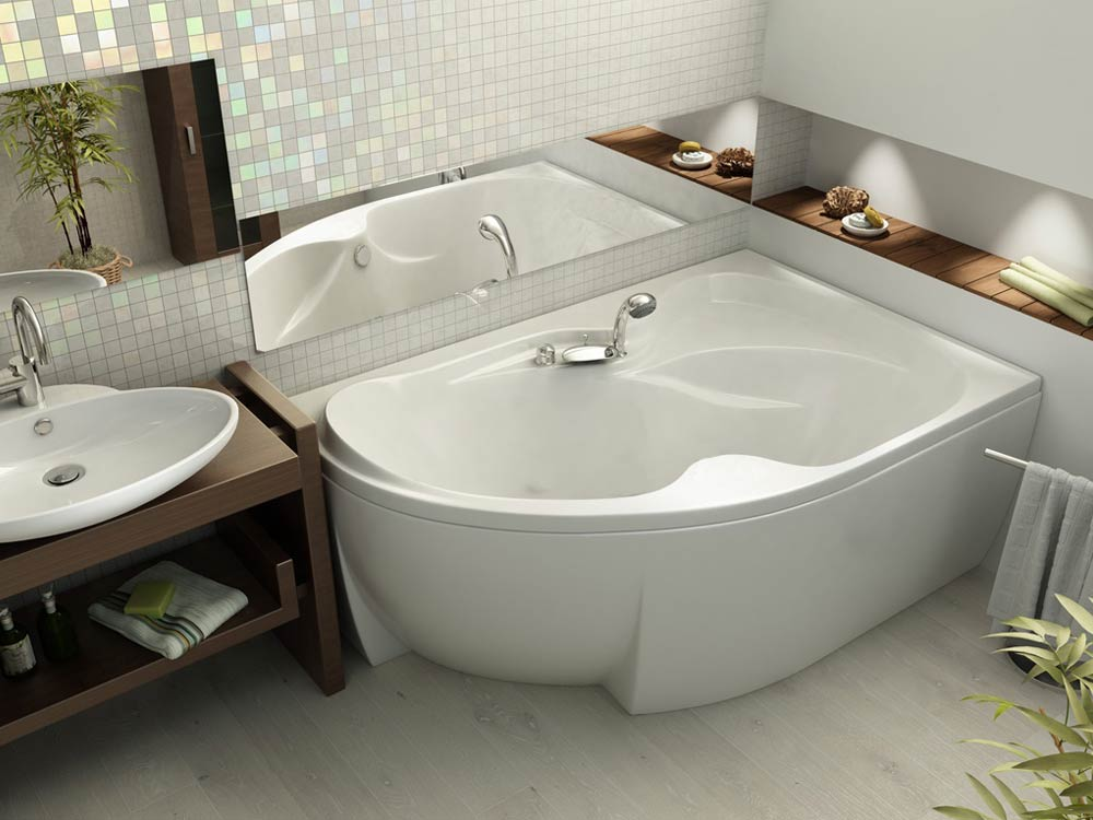Удобная угловая ванна
