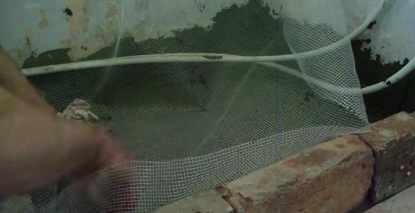 Укладывание сетки