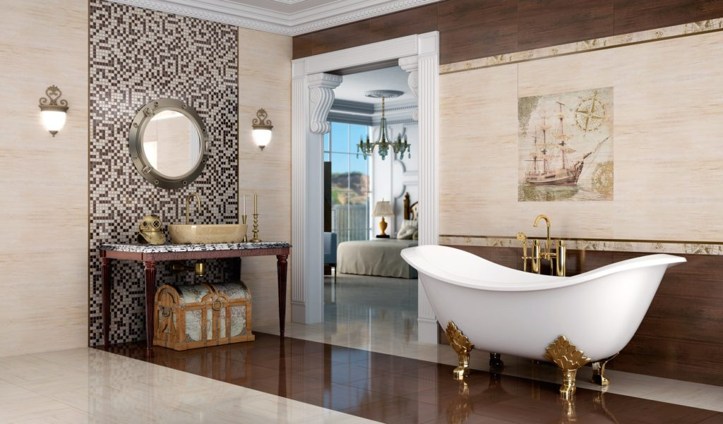 Испанская плитка в интерьере ванной