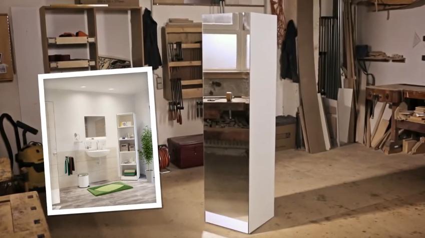 Напольный шкафчик с зеркалом