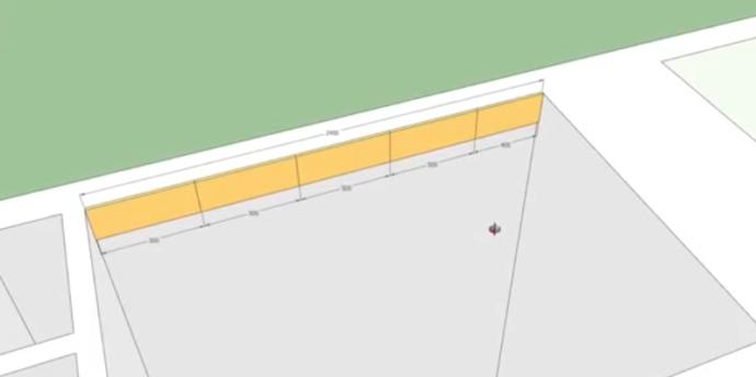 Правильная раскладка упрощенной схемы. Крайняя справа плитка обрезана всего на 10 см из 50 см