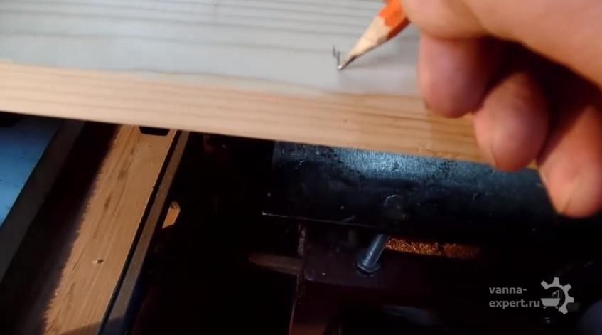 Разметка карандашом для удобства распила