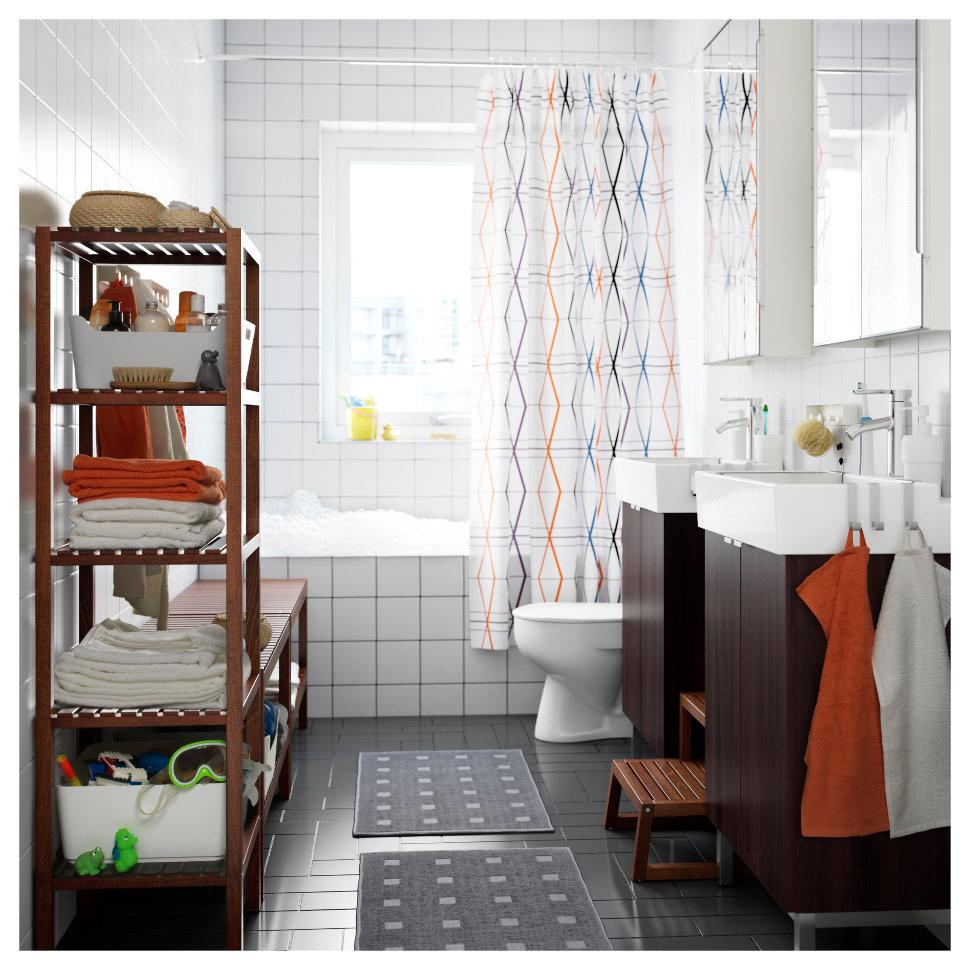 Стеллаж для ванной деревянный