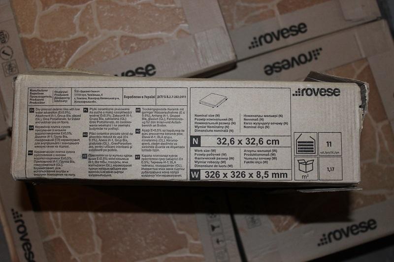 Упаковка плитки