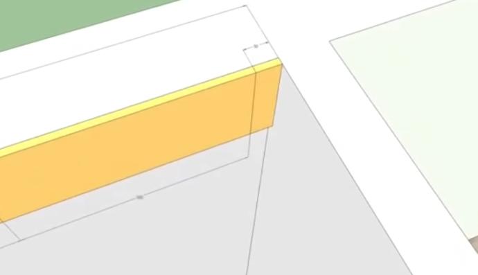 Узкий кусочек плитки справа при деревенской раскладке. Такой же узкий кусочек и на стене слева