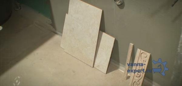 Подготовьте керамическую плитку и инструменты