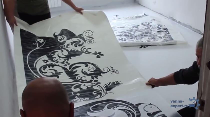 Расстелите рисунок