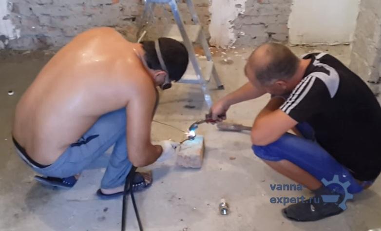 Работы над монтажом электропроводки