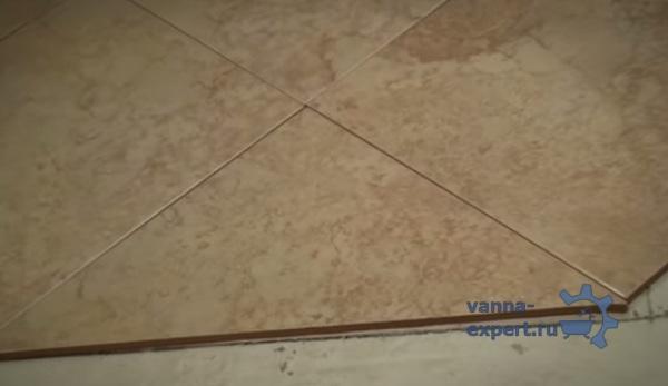 Подрезанная плитка