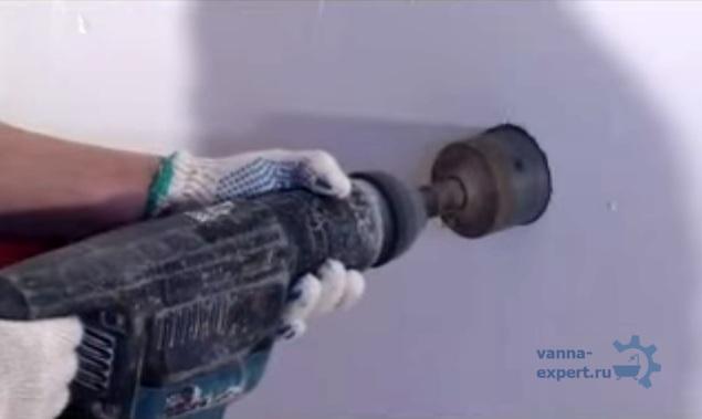 Бурение углубления под терморегулятор