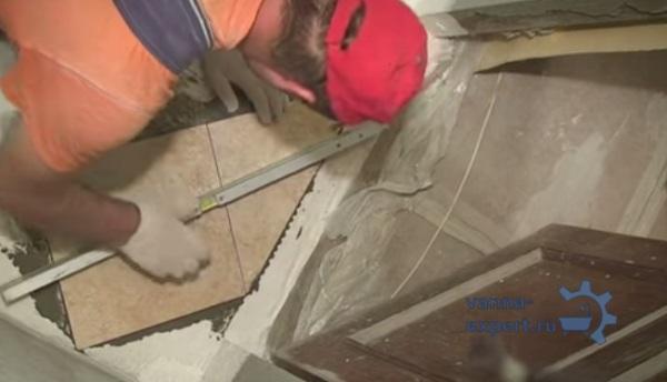 Проверка положения плитки