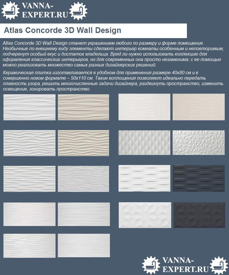 Atlas Concorde 3D Wall Design