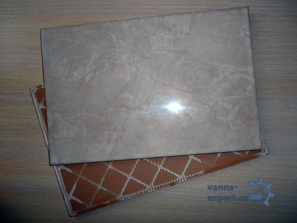 Обратите внимание на оттенок плитки из разных коробок