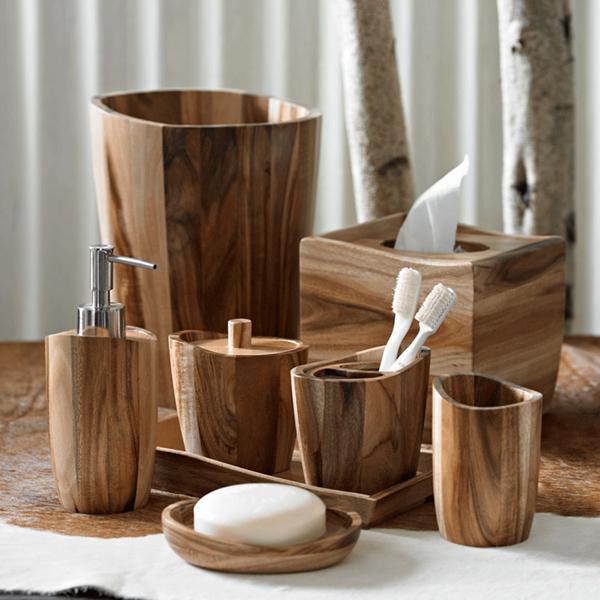 Деревянный набор отлично впишется в скандинавский интерьер