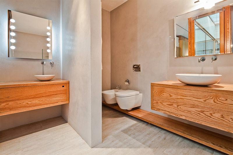 Интерьер ванны минималистичный