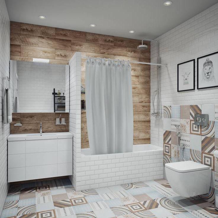 Ванная в скандинавском стиле - фото