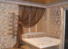 Красивые шторки в ванной