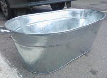 Оцинкованная ванна-корыто