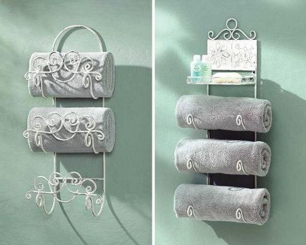 Стальные полочки для полотенец