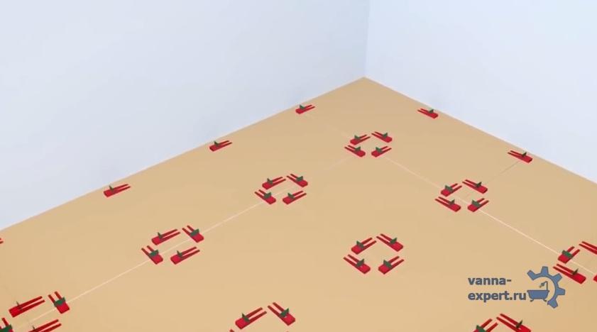 Укладка плитки с системой выравнивания