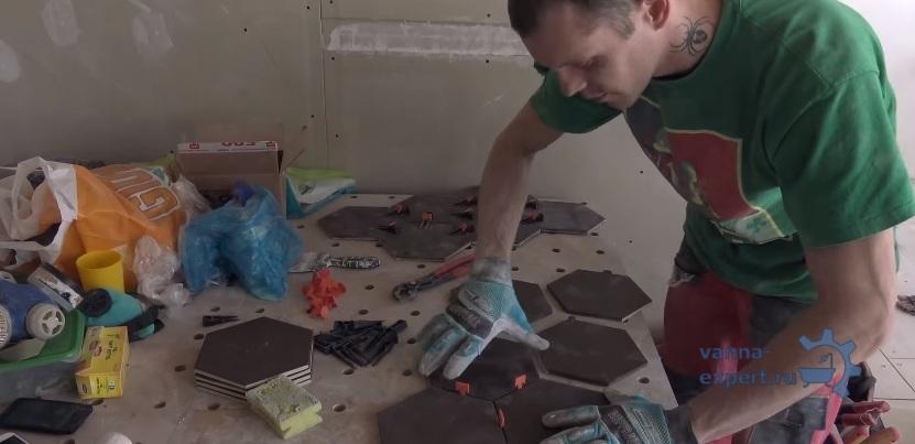 Раскладывание плиток, установка флажков