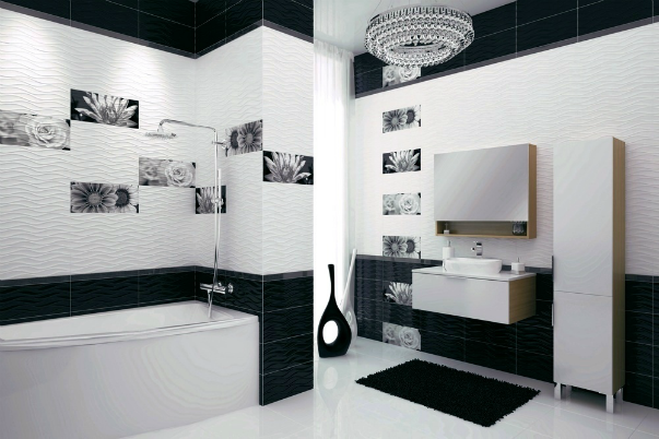 Черно-белая коллекция керамической плитки