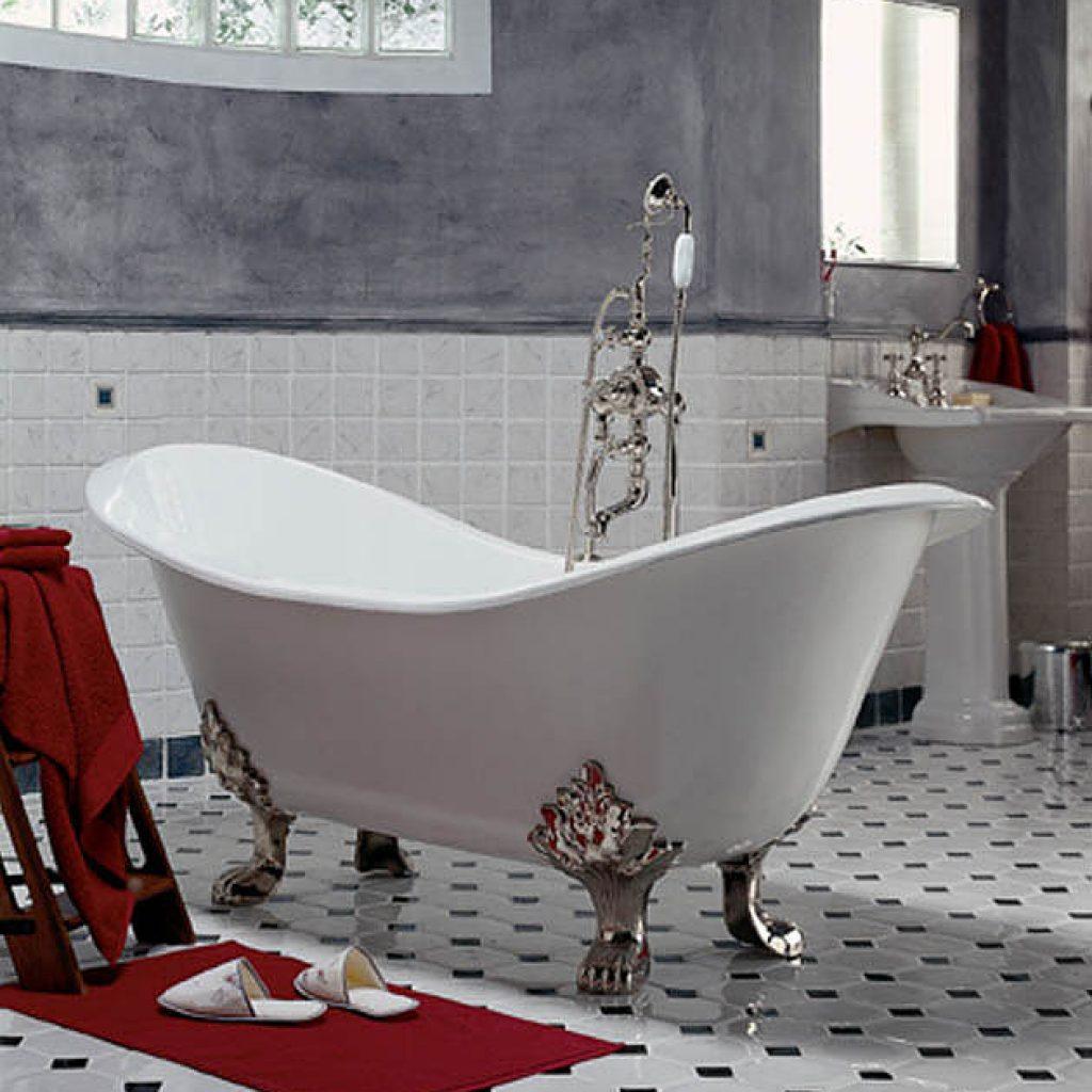 Чугунные ванны не отличаются большим разнообразием форм