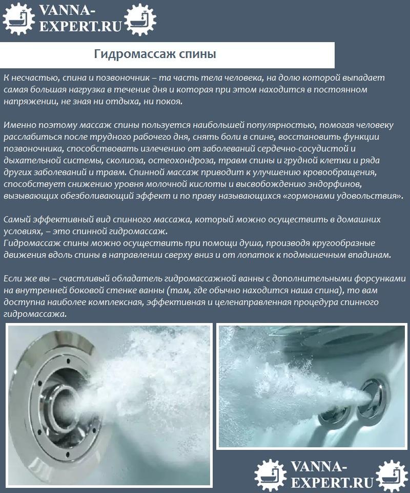 Гидромассаж спины