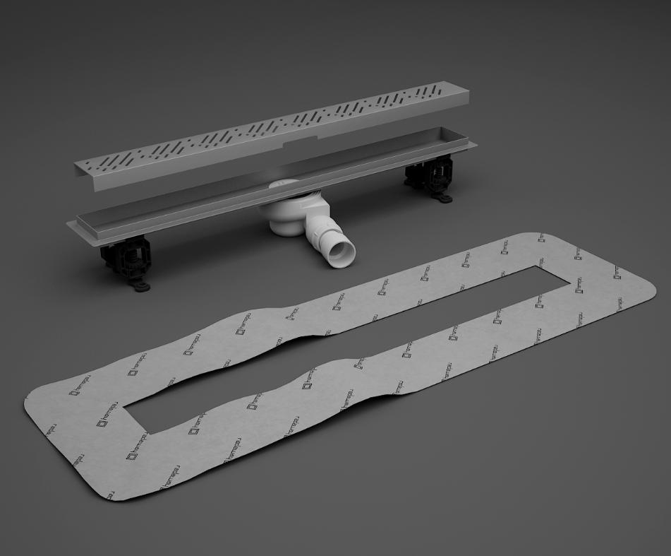 Трап линейный 105 см для плитки толщиной 5-7 мм