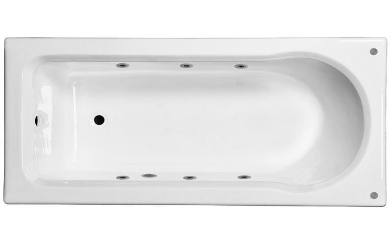 Ванна с гидромассажем чугунная Pucsho 170х80х42