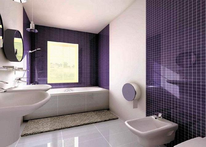 Оформление интерьера в ванной