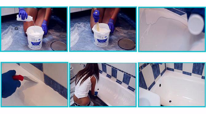Этапы для восстановления ванны