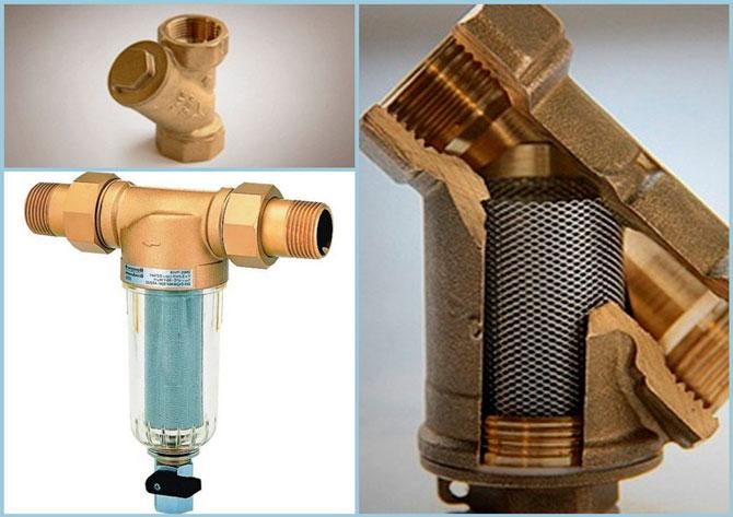 Фильтр для воды с пластиковым и с металлическим каркасом