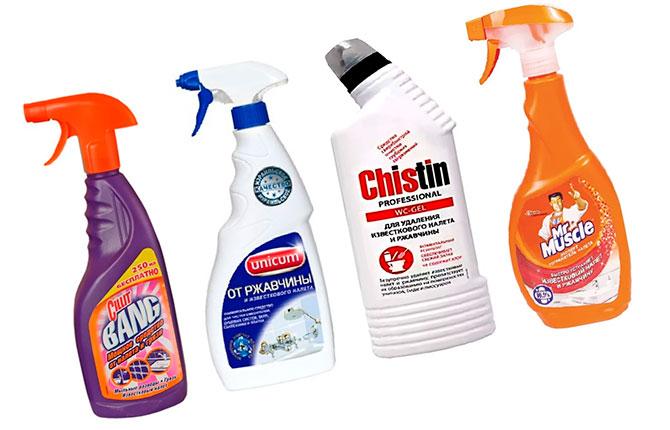 Средства для очистки ванн