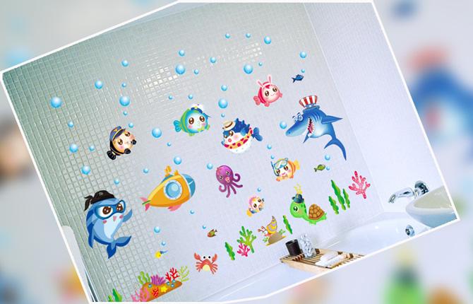 Детские наклейки в ванную комнату