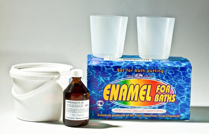 «Жидкая» эмаль для ванны