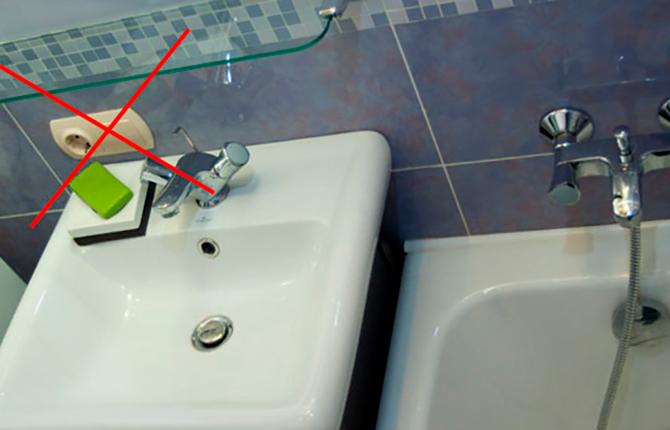 Где нельзя ставить розетки в ванной