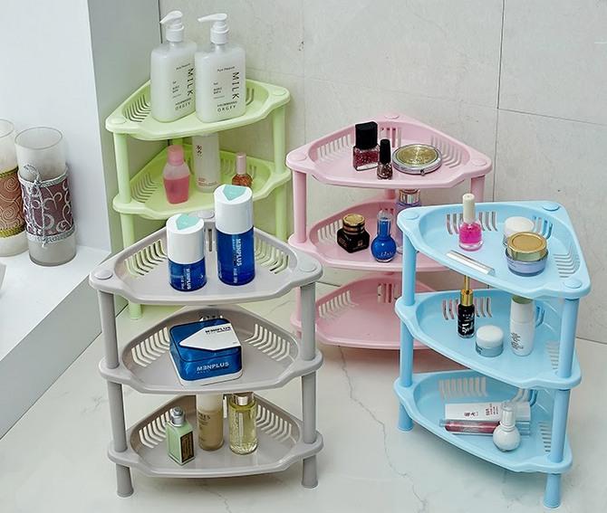 Пластиковые этажерки для ванной