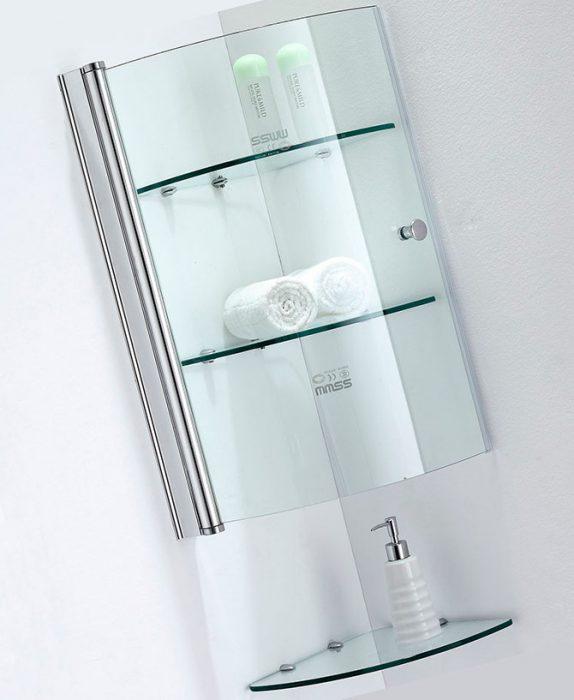 Стеклянные шкафы для ванной