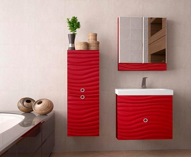 Яркая мебель для ванной комнаты
