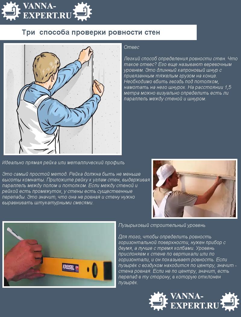 Три способа проверки ровности стен