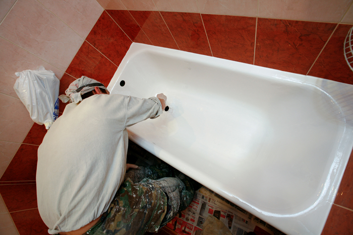 Покраска ванна своими руками