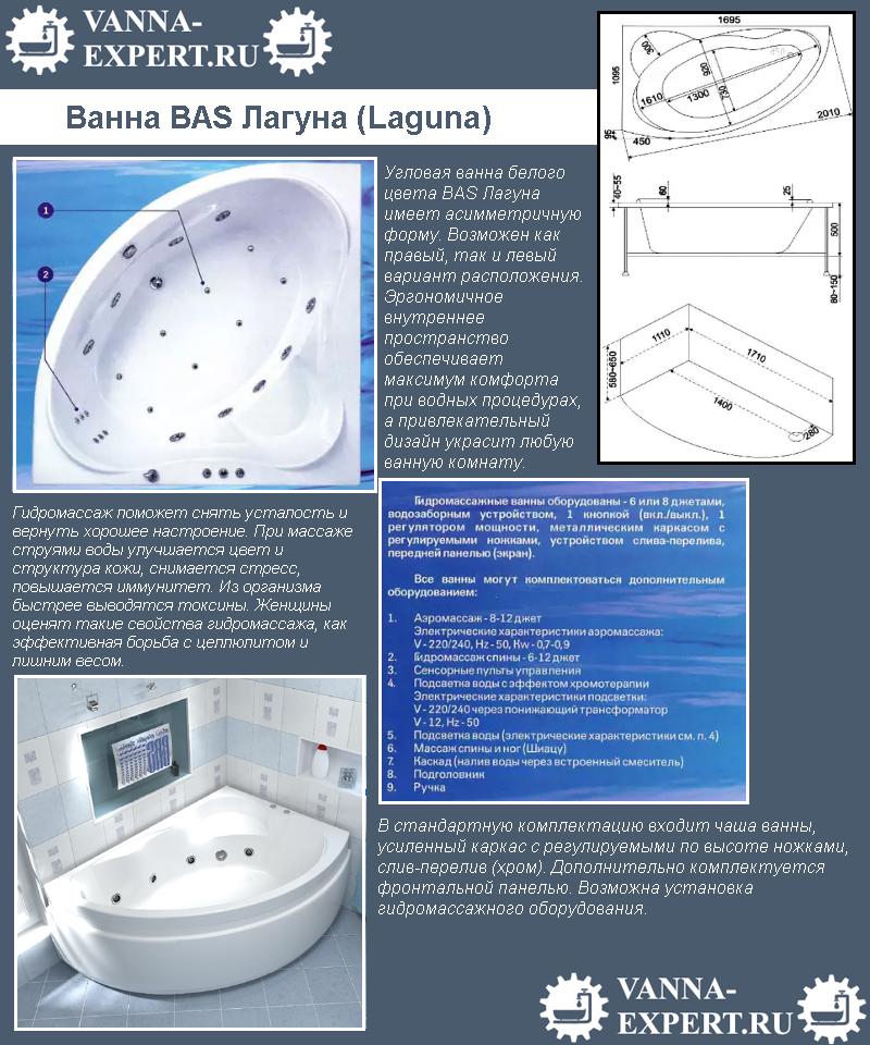 Ванна BAS Лагуна (Laguna)