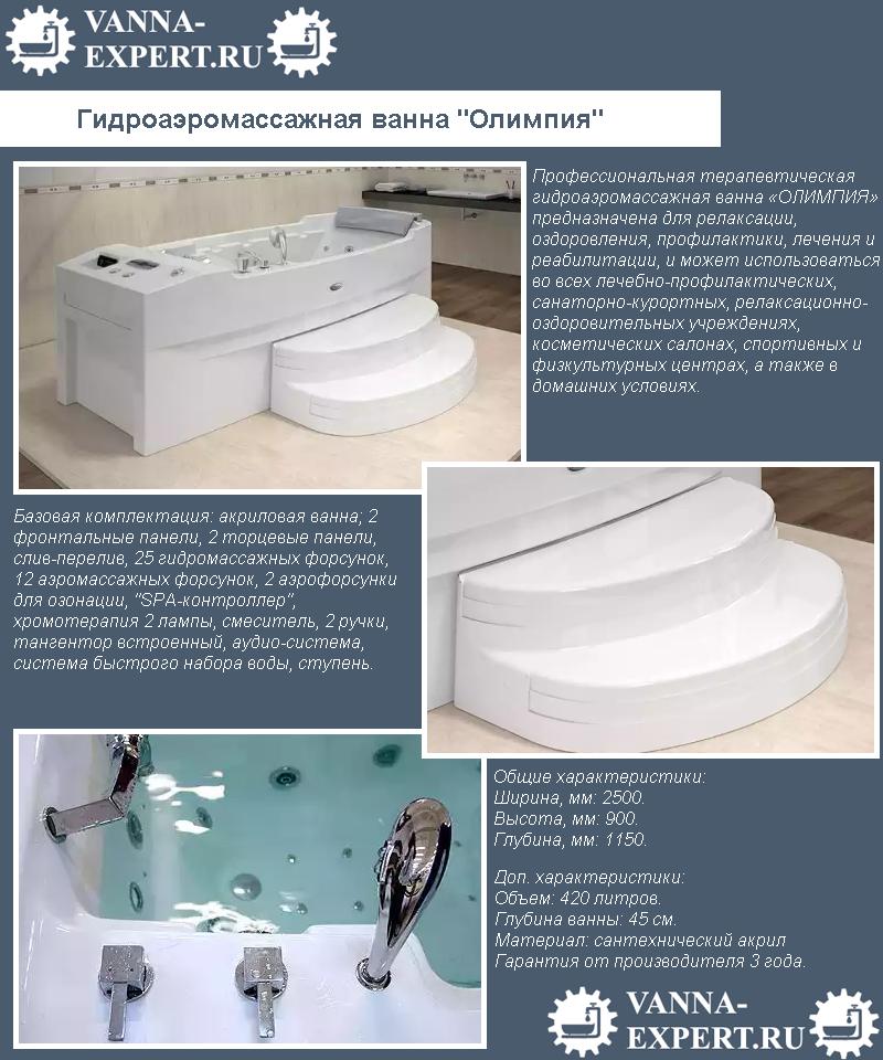 """Гидроаэромассажная ванна """"Олимпия"""""""