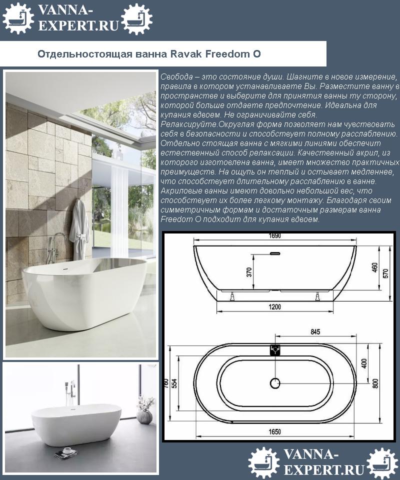 Отдельностоящая ванна Ravak Freedom O