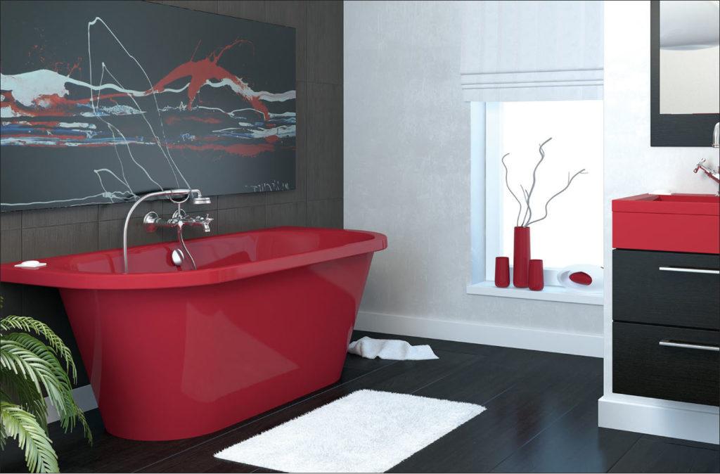 MALTA - модель красного цвета из литьевого мрамора