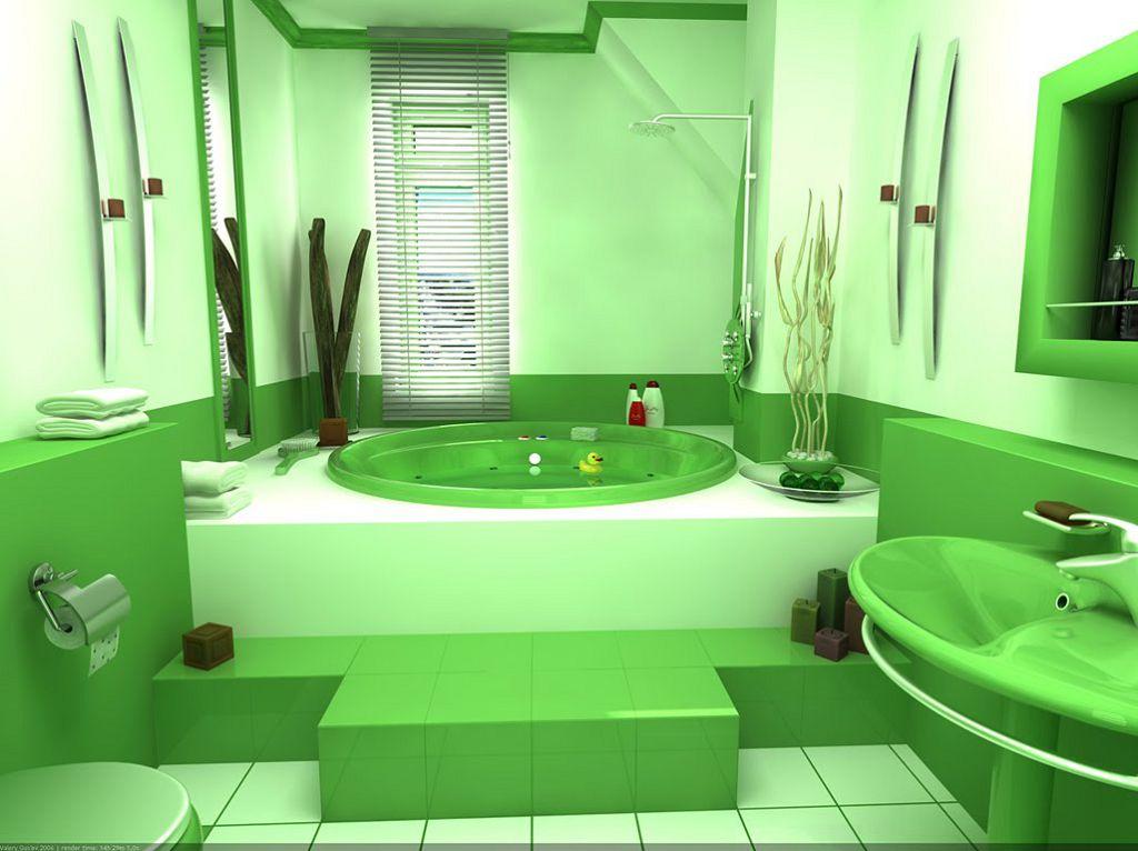 Окрашенные стены в ванной - экономичный вариант отделки