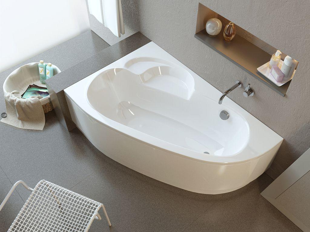 Пристенная угловая модель ванны