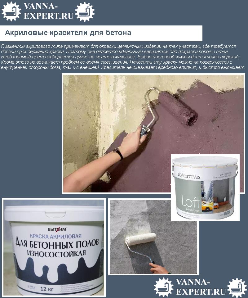 Акриловые красители для бетона