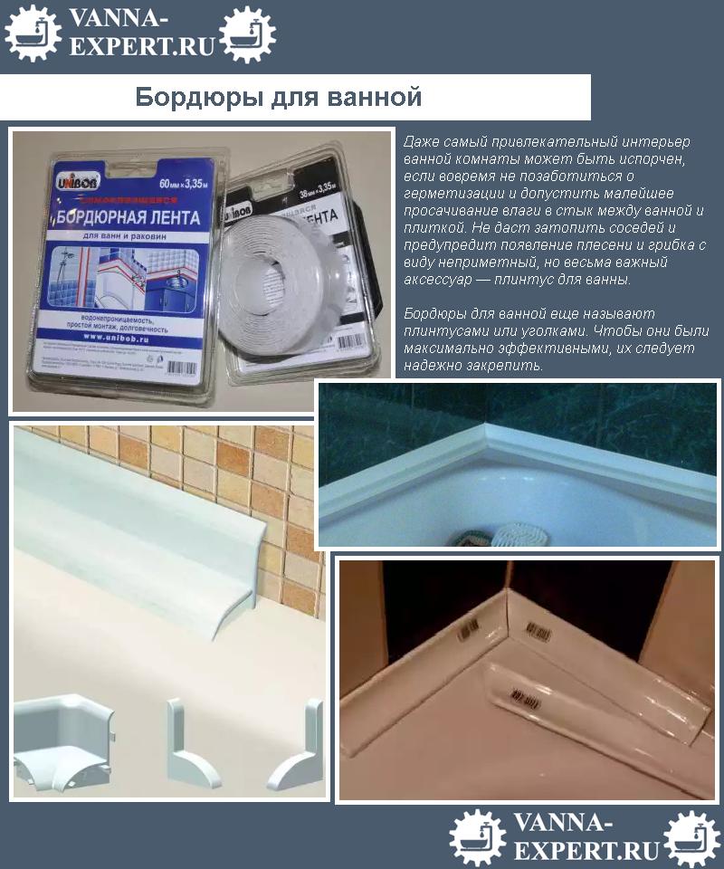 Бордюры для ванной